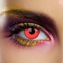 1 Day Use Bloody Red Crazy Coloured Contact Lenses